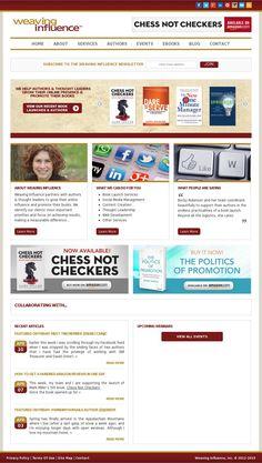 The website 'weavinginfluence.com' courtesy of @Pinstamatic (http://pinstamatic.com)