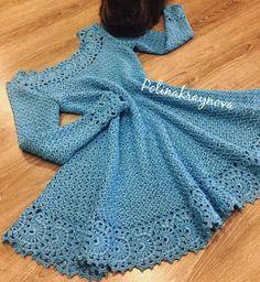 Crochet Dress for Women Free Pattern - crochet - Skirts & Dresses - Crochet Crochet Kids Hats, Crochet Gloves, Crochet Books, Crochet Shirt, Crochet Beanie, Crochet Poncho, Crochet Top, Mode Crochet, Crochet Woman