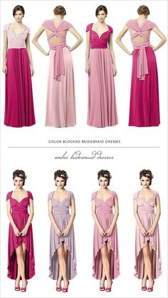 Having an ombre wedding? What about dressing your bridesmaids in these beautiful Twist Dresses?: