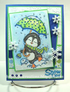 Snowy the Penguin - Conie Fong Art & Design