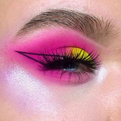 "3,261 Likes, 77 Comments - Rebekka Theenaart (@beautybekky) on Instagram: ""NEON. This look is literally screaming in my face and I love it. I used the @glisten_cosmetics…"""