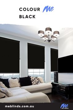 Black is the perfect accent to any room. Small touches create visual interest and drama, and blinds are the perfect way to decorate with black without overpowering your interiors.   #windowblinds #home #homeinspo #homedecor #homesweethome #interiorstyle #interiordesign #meblinds #blindsforslidingdoor #rollerblinds #mediaroomideas #livingroomdecor #officedecor #blackinteriors #blackblinds #blackdecor Black Blinds, Black Curtains, Window Blinds & Shades, Blinds For Windows, Blockout Blinds, Living Room Decor, Living Spaces, Interior Styling, Interior Design