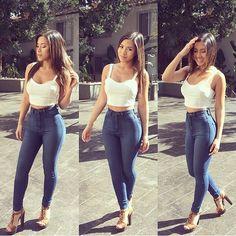 35 Classic High Waist Skinny Jeans - Medium Blue
