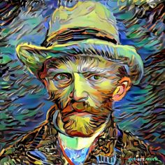 2 of the most creative minds combined. A Self-portrait by van Gogh in the visual language Picasso. . . . . Using rhythmic brushstrokes in striking colours Vincent Van Gogh portrayed himself here as a fashionably dressed Parisian. The style is now inspired by Jeune Fille Endormi a 1935 work by Pablo Picasso. It was sold at Christie's auction house in London in 2011 for nearly 13.5 million after being donated to the University of Sydney by an anonymous American donor. This artwork is created…