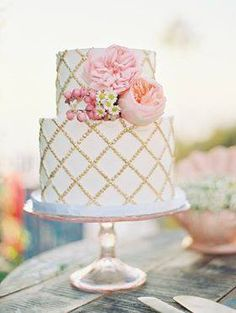 This small cake would be perfect for a Spring wedding ~ 100 Layer Cake
