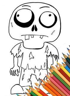 Zombie simpatico pagina da colorare disegno da colorare