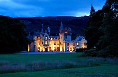 The only habitable castle in Loch Ness, Scotland, Aldourie offers opulent accommodations in the main castle building or more modest lodging in the property's cottages.