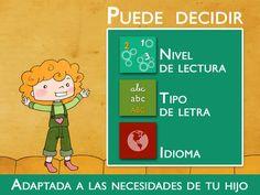 """Enséñame a leer - """"El cumpleaños de Lucía!"""", una herramienta educativa inspirada en Montessori con actividades y cuentos interactivos para aprender a leer. de AucaDigital"""