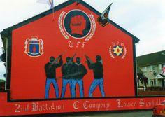 C Company Mural. Belfast Murals, Northern Ireland Troubles, Irish Republican Army, Irish Eyes, Freedom Fighters, Wall Murals, Britain, The Past, Board
