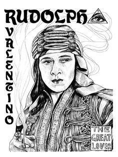 Rudolph Valentino, from Illuminating the Stars Volume 1 by Alicia Justus. Currently funding on Kickstarter: http://kck.st/1wD7LNa