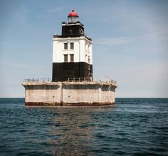 Poe Reef Lighthouse by Phyllis Taylor Bass Harbor Lighthouse, Lighthouse Lighting, Lighthouse Pictures, Wind Mills, Water Tower, Light House, Cartography, Amazing Nature, Rainbows