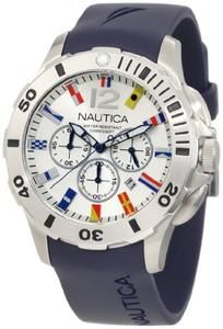 Nautica Men's N18640G Bfd 101 Dive Style Chrono Flag Watch