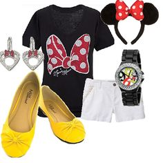this is a do-able walt disney world outfit.. minnie mouse style - disneybound