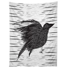 Julia Da Rocha Black Bird Tapestry | DENY Designs Home Accessories