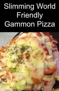 A #slimmingworld friendly recipe for gammon pizza