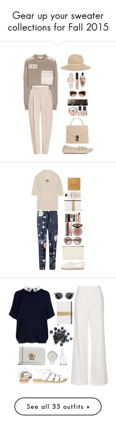"""""""Gear up your sweater collections for Fall 2015"""" by isha-saxena ❤ liked on Polyvore featuring Marc Jacobs, Delpozo, Christian Dior, Boohoo, Express, Bobbi Brown Cosmetics, Nine West, Lancôme, rag & bone and Valentino"""