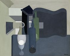 Amedee Ozenfant, Guitar and Bottles, 1920; Purism / the machine aesthetic