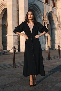 #orovica #shirtdress #lbd 21st Dresses, Shirtdress, Every Woman, Lbd, Duster Coat, Jackets, Black, Women, Fashion