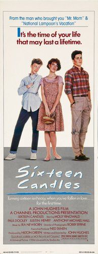 Sixteen Candles Slim Movie Poster 14X36