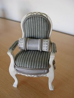 Dollhouse miniature designer accent chair