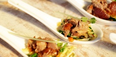 Asian Spoons with Peking duck- Perfect party nibbles by NZ Herald