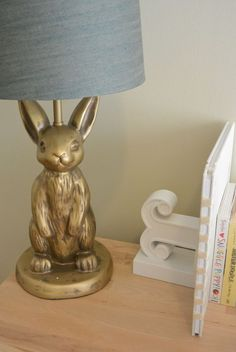 Bunny lamp. Designing a Gender Neutral Nursery | MomTrends