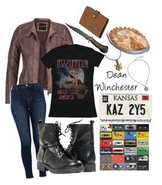 """""""Dean Winchester"""" by ticci-toby ❤ liked on Polyvore featuring moda, maurices, J Brand, Paolo Shoes y Mulberry"""