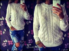 Long Sleeve Loose Cable Knit Sweater -  - Sweaters, www.looklovelust.com - 6, https://www.looklovelust.com/products/long-sleeve-loose-cable-knit-sweater