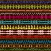 Multicolored texture with geometric ethnic ornaments stock photography. #African #Fabric