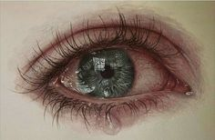 Hyper realistic Eye painting by Gimmegammi, Medium: Acrylic on herbarium mounting A verb to this: Perfect! Hyper realistic Eye painting by Gimmegammi, Medium: Acrylic on herbarium mounting A verb to this: Perfect! Cry Drawing, Drawing Eyes, Drawing Sketches, Crying Eye Drawing, Eye Drawings, Pencil Drawings, Photo Oeil, Realistic Eye Drawing, Hyper Realistic Paintings