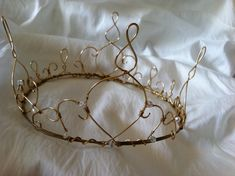 Tiara. Gold Wire Crown with Swarovski crystals by WirePrincess on Etsy, $85.00