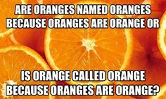 What Came First In The Orange Conundrum?