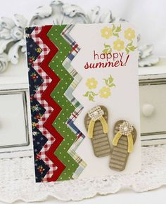 Happy Summer Card by Melissa Phillips for Papertrey Ink (May 2012)