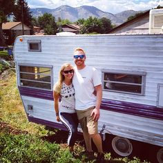 Got the keys to our new home! Officially owners of a 1969 camper trailer. #tinyhouse