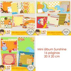 Mini Álbum Sunshine com Armazém Criativo, Sol, Sun, Verão, Summer, Praia, Beach