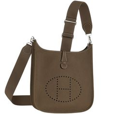 herme handbag - Hermes-GARDEN PARTY -Taupe negonda leather with chevron canvas ...
