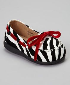 Take a look at this Zebra Kayla Squeaker Loafer by Itzy Bitzy on #zulily today!