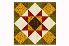 Choose from Two Sizes when You Sew Kansas Star Quilt Blocks