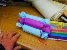 Make firestarters w/ toilet paper rolls and dryer lint