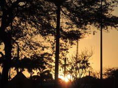 Sunshine in the bridge, on Fortaleza, Brazil