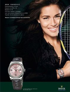Gorgeous @AnnaIvanovic is the ambassador of #Rolex