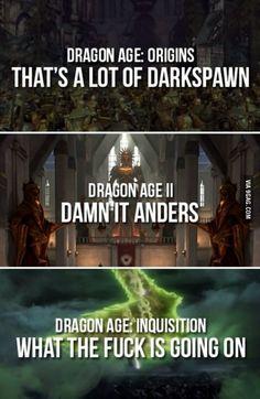 Dragon Age 1, 2, & 3 explained.