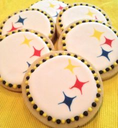 Royal Icing Steelers Cookies