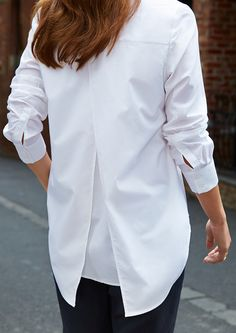 Featuring the Split Back Shirt.
