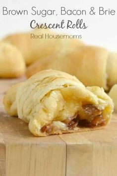brown sugar, bacon & brie stuffed crescent rolls