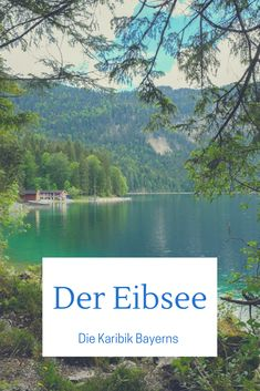 The Eibsee - Caribbean feeling with an alpine panorama. Anyone on vacation in Bavaria should . - The Eibsee – Caribbean feeling with an alpine panorama. Anyone on vacation in Bavaria should defi - Hiking Photography, Les Sentiments, Going On Holiday, Travel Aesthetic, Travel And Leisure, Vacation Destinations, Hiking Trails, Outdoor Travel, Day Trips