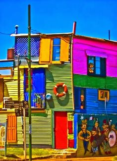 La Boca, Buenos Aires—I remember seeing houses like these there.
