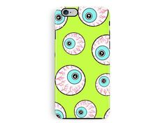 Bumper iPhone 5 Case, Protective iPhone Case, Eye iPhone 6 case, Goth iphone case, Googly Eyes Phone case, Halloween Phone case, Pastel Goth