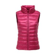 Lanbaosi Womens Packable Lightweight Down Vest Winter Down Waistcoat *** Details can be found by clicking on the image. (This is an affiliate link)