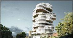 Loucura arquitetônica: franceses planejam edifício de apartamentos em formato de árvore - Fotos - R7 Economia